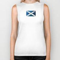 scotland Biker Tanks featuring Scotland by Arken25