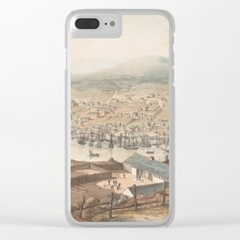 Vintage Pictorial Map of St Johns Newfoundland (1831) Clear iPhone Case