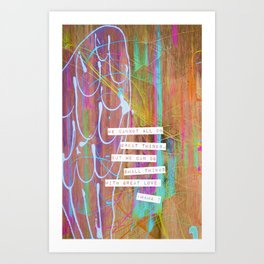 small things with great love  Art Print