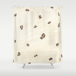 Metallic Leopard Shower Curtain