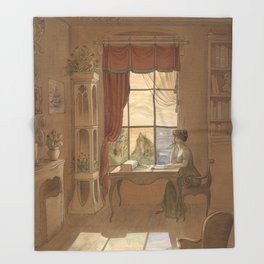 Jane Austen, Mansfield Park - the East Room Throw Blanket