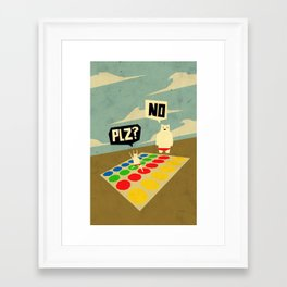 Yeti Doesn't play twister Framed Art Print