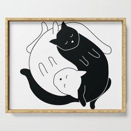 Yin Yang Cats Serving Tray