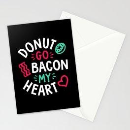 Donut Go Bacon My Heart Stationery Cards