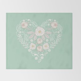 Nebula Pink Heart Throw Blanket