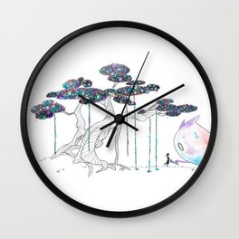 My monster and I Wall Clock