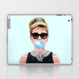Audrey Hepburn Chewing Bubble Gum - 4 Laptop & iPad Skin