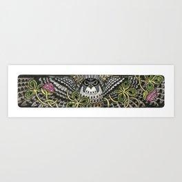 Falcon on clover Art Print