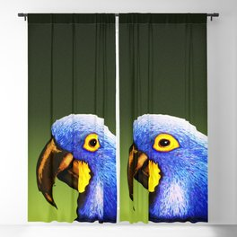 BLUE MACAW Blackout Curtain