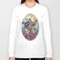 shiva Long Sleeve T-shirts featuring Shiva Shakti by Harsh Malik