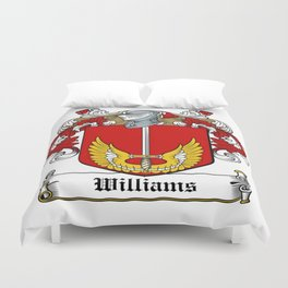 Family Crest - Williams - Coat of Arms Duvet Cover