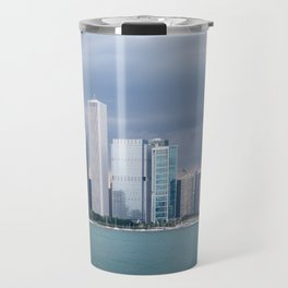 Chicago Skyline Pictures from Michigan Lake Travel Mug