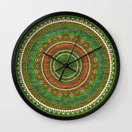 Hippie mandala 80 Wall Clock