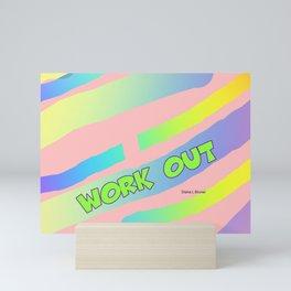 WORK OUT EXERCISE Mini Art Print