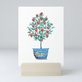 Persephone- Pomegranate Tree on White Mini Art Print