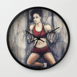 Strength and Beauty Wall Clock