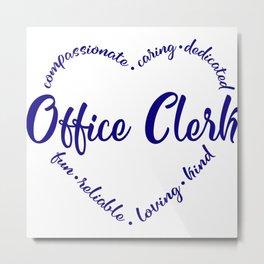 Office clerk, assistant, school Metal Print