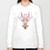 spring Long Sleeve T-shirts featuring Spring Deer by Robert Farkas