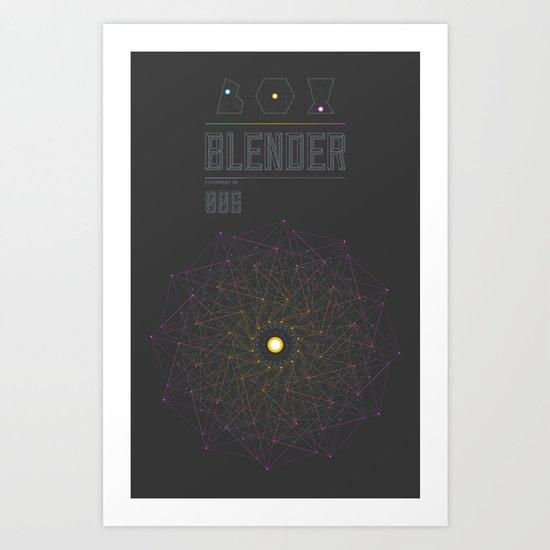 Blender experiment no.6 Art Print