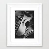 violin Framed Art Prints featuring Violin by Jo Bekah Photography