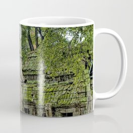 Ruins of Angkor Wat Temple Being Overgrown by Ancient Roots of Banyan Tree Coffee Mug