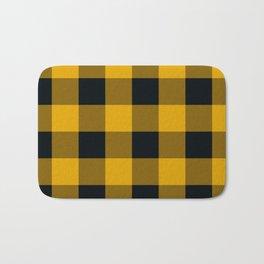 Yellow & Black Buffalo Plaid Bath Mat