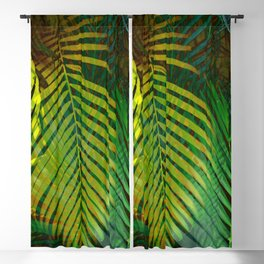 TROPICAL GREENERY LEAVES no2 Blackout Curtain