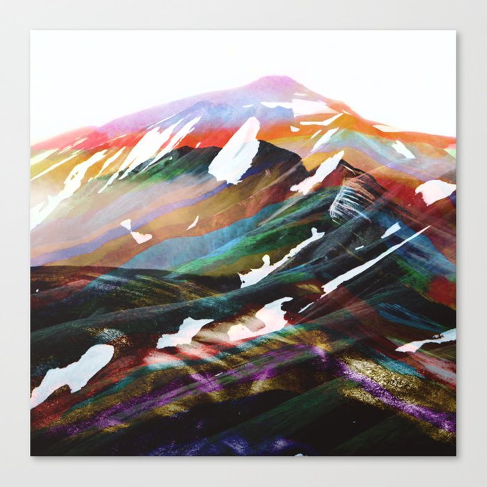 Abstract Mountains II Canvas Print