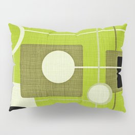 orbs and squares acid green Pillow Sham