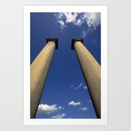 Columns Under Sky Art Print