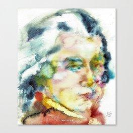 WOLFGANG AMADEUS MOZART - watercolor portrait Canvas Print