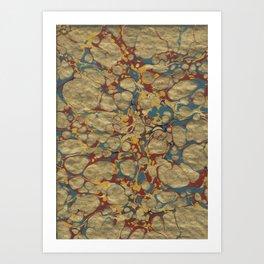 Marbled Gold Art Print