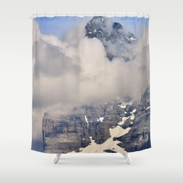 Emblematic Eiger. 3,967-meters. Alps Shower Curtain