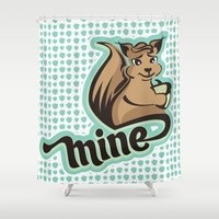 squirrel Shower Curtains featuring Squirrel by VessDSign