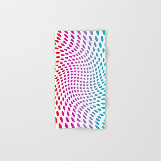 Approaching and receding shapes in CMYK - Optical game 17 Hand & Bath Towel