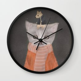 cat and mouse Wall Clock