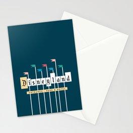 Theme Park Entrance   Navy Stationery Cards
