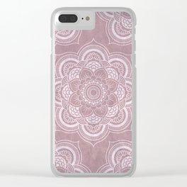 Cloudy Mandalas (Pinkish) Clear iPhone Case