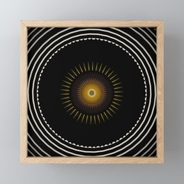 Modern Circular Abstract with Gold Mandala Framed Mini Art Print