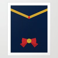 sailor moon Art Prints featuring sailor moon by Sunny river