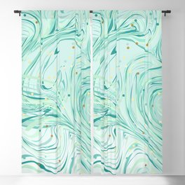 Green Marbles Blackout Curtain