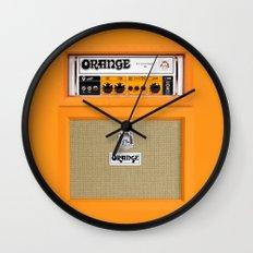 Retro Orange guitar electric amp amplifier iPhone 4 4s 5 5s 5c, ipad, tshirt, mugs and pillow case Wall Clock