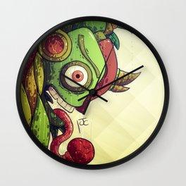 Autumn Chameleon Wall Clock