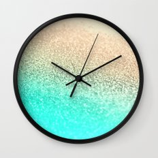 GOLD AQUA Wall Clock