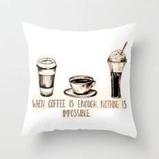 Coffee empowerment  Throw Pillow