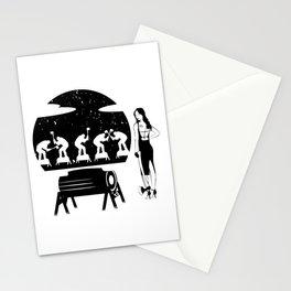 WOODCHOPPING WOMAN Stationery Cards