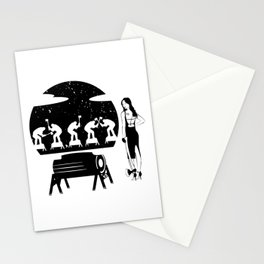 WOODCHOPPING WOMAN Stationery Cards