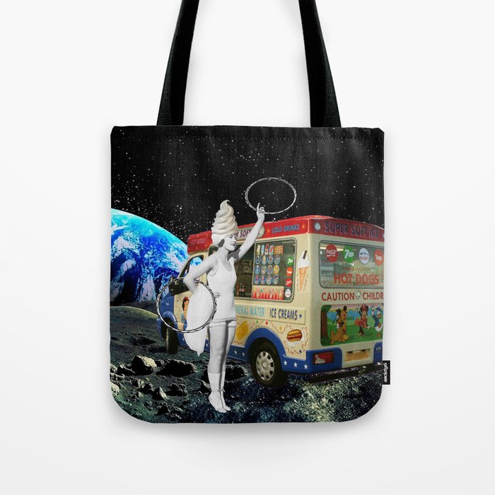 Miss Whippy Hooping in Space Tote Bag