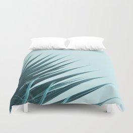 Blue Palm Leaf Duvet Cover