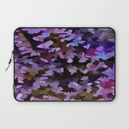 Foliage Abstract In Blue, Pink and Sienna Laptop Sleeve